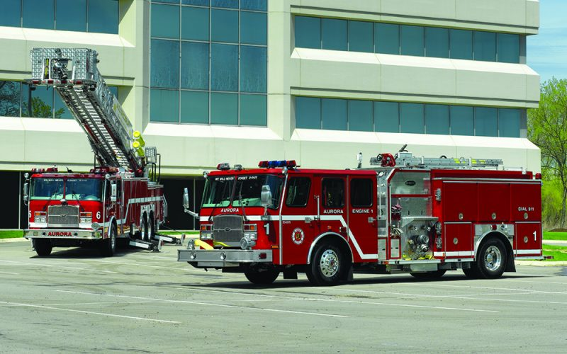 Aurora E-ONE fire apparatus